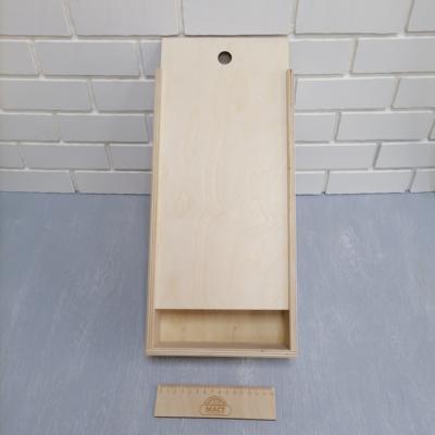Коробка с крышкой 40х20х7.5 см фанера 10мм