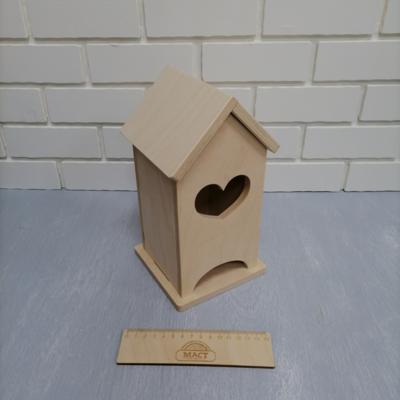 Чайный домик сердечко, 12х12х25 см