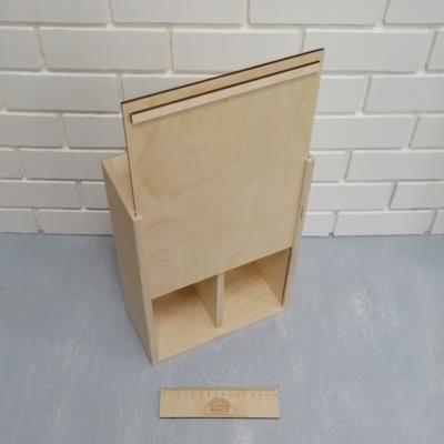 Коробка с крышкой 30х22 см. 2 отсека