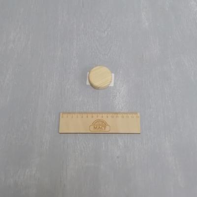 Круглая подставка 5 см сосна