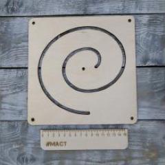 Лабиринт спиралт, 20х20 см