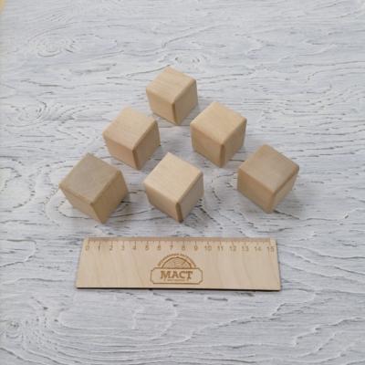 Кубики 4х4 см берёза