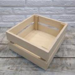 Деревянный реечный ящик, 25х25х10 см