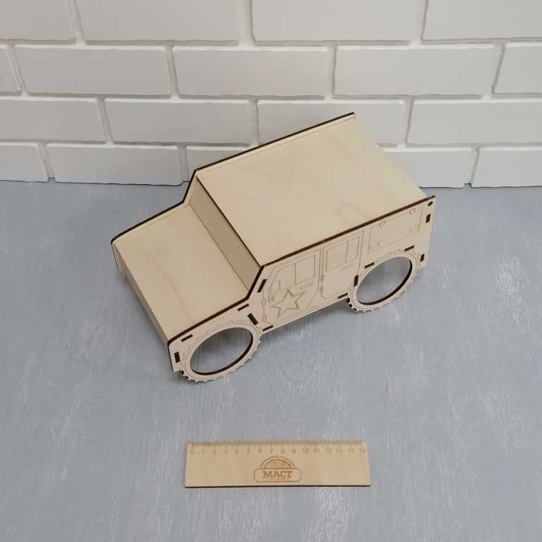 Коробка Джип 27х14х15 см фанера 4