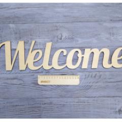 Слово Welcome, 50х13 см фанера 6