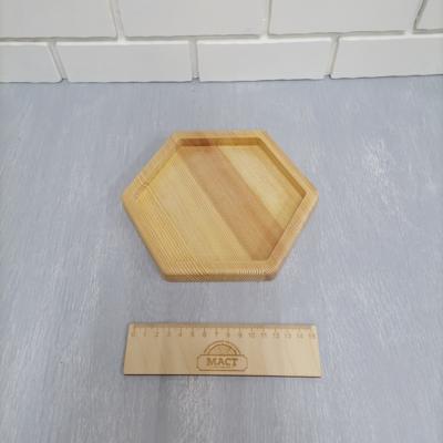 Менажница шестигранник 17 см см лиственница 20мм
