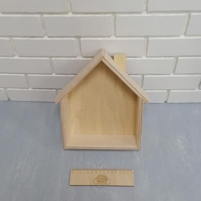 Коробочка домик 25х20х5см фанера 10мм