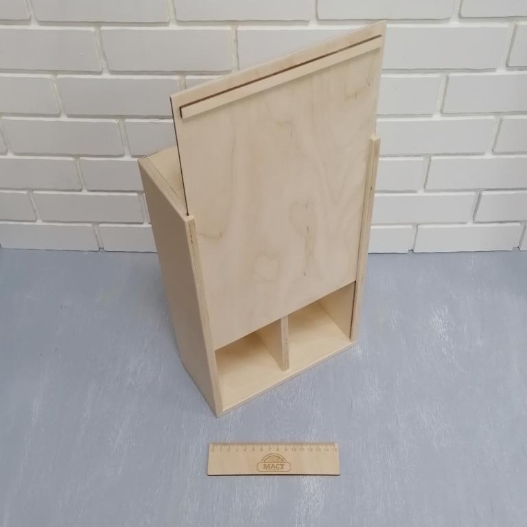 Коробочка 35х22 см 2 отсека фанера 10
