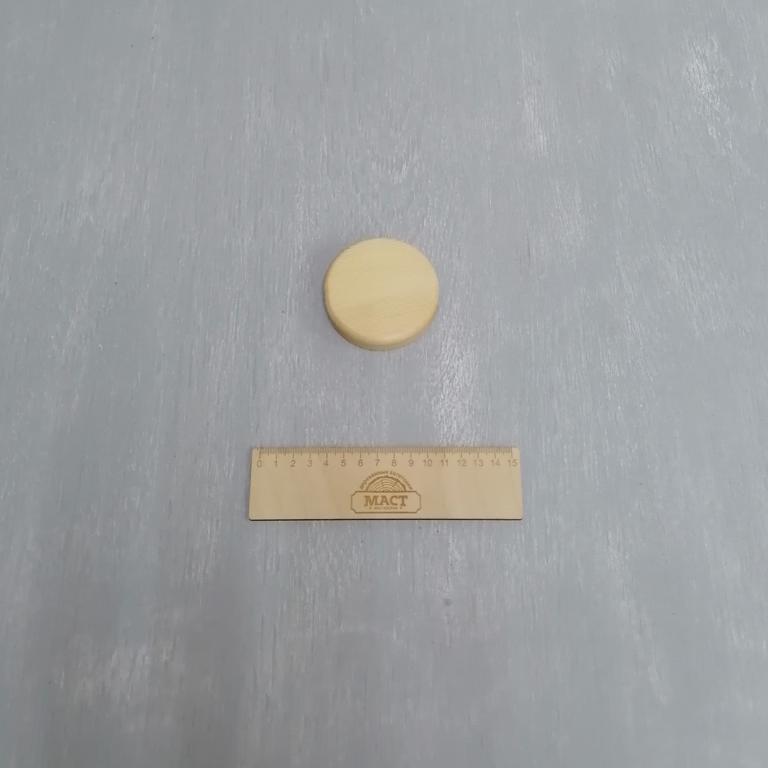 Круглая подставка 7 см сосна