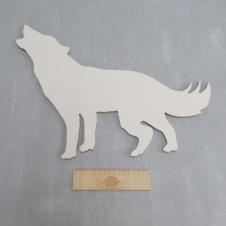 Артборд Волк стоит, 48х36 см мдф 8мм лам.