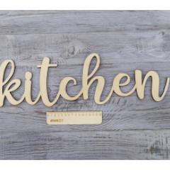 Слово на стену kitchen, 50x16 см