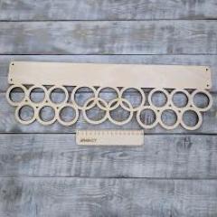 Медальница олимпийские кольца, 50х17 см