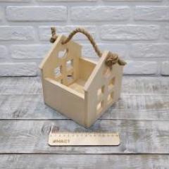 Корзинка домик, 15х15х18 см фанера 10