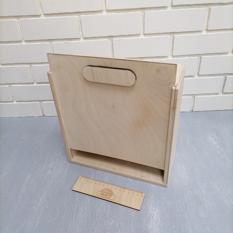 Ящик с крышкой 24х24х10 см фанера 10мм