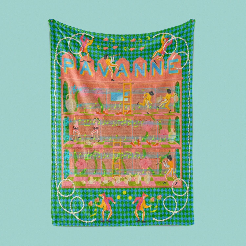 Pavanne Fuzzy Throw Blanket