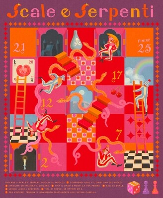 Snakes and Ladders - Poster Print