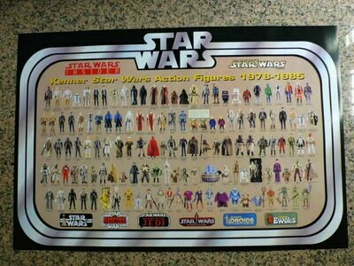 Star Wars Insider Fan Club Exclusive Vintage Kenner Action Figure Poster (1978-1985) Reprint