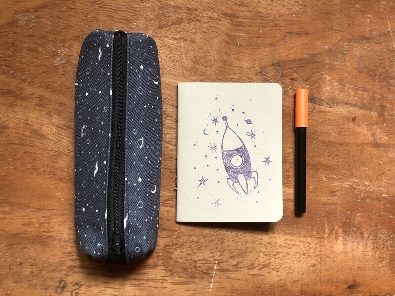 Cosmic Pencil Case + Notebook