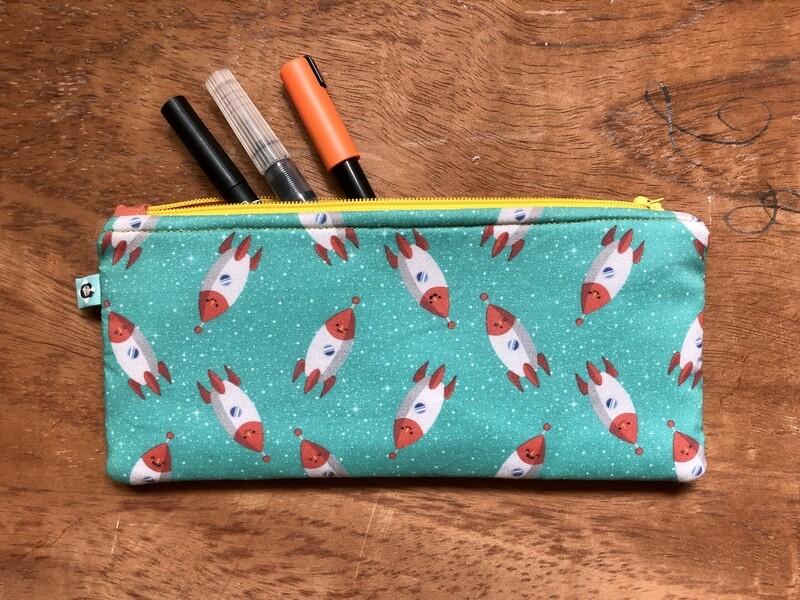 Rockets Pencil Case + Notebook