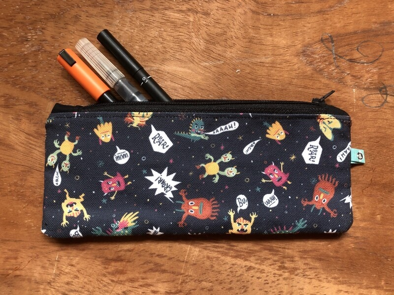 Monsters Pencil Case + Notebook