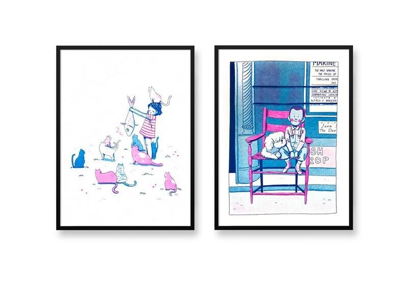 Best Friends Riso Prints
