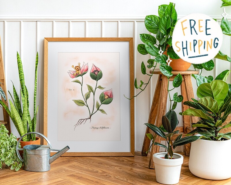 Sleeping Childflower Print