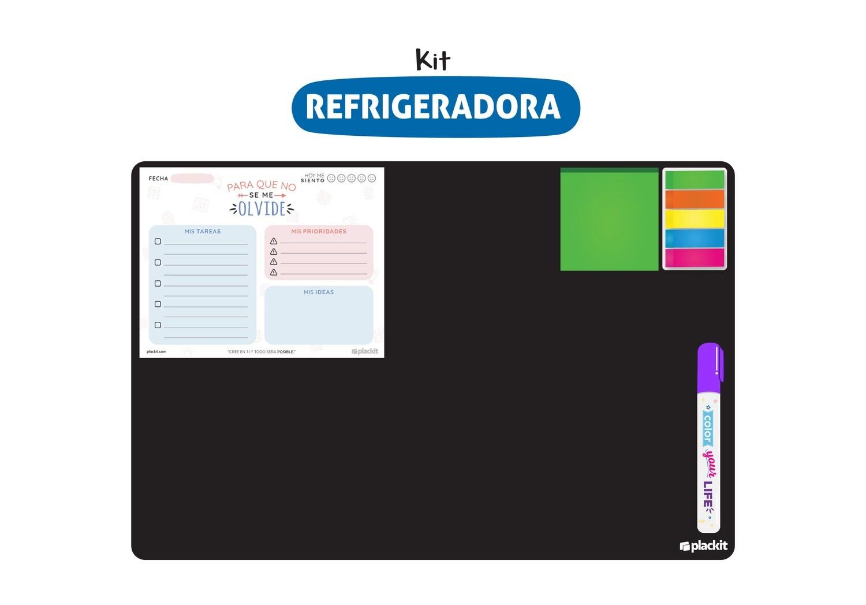 Plackit Kit Pizarrita para Refrigeradora