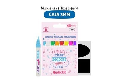 Plackit Marcadores Tiza Líquida 3MM