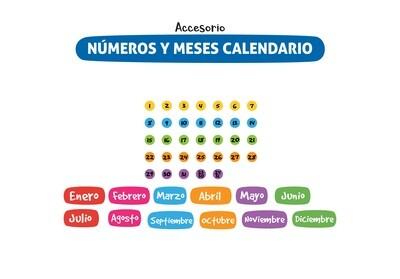 Plackit Números Y Meses De Calendario