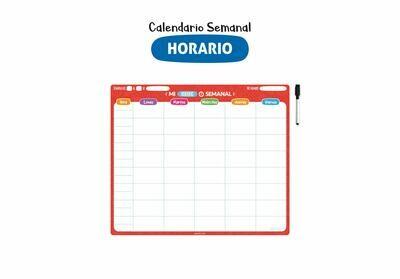 Plackit Calendario Semanal Magnético Horarios