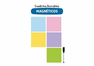 Plackit Cuadritos Borrables Magnéticos