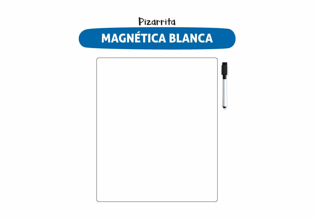Plackit Pizarrita Blanca Magnética Borrable