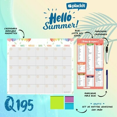 Plackit Hello Summer - Calendario + Lista Súper