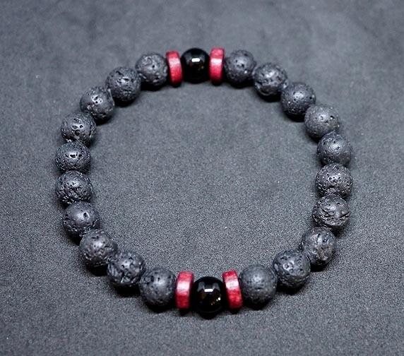 Lava Bracelets in Black Jasper