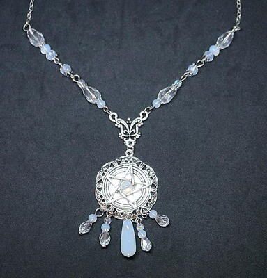 Pentacle and Opalite Necklace