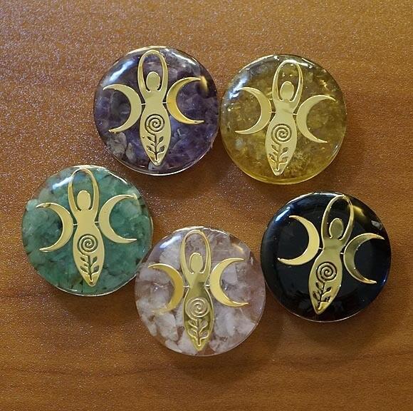 Orgone Spiral Goddess Palm Stones