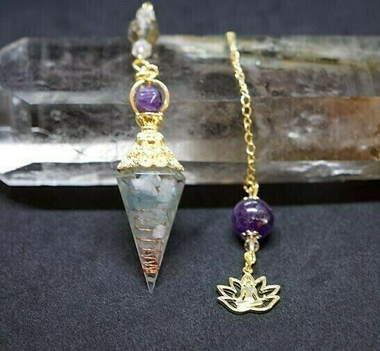 Orgone Lotus Pendulum