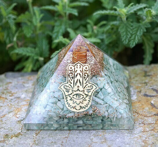Orgone Pyramid in Amazonite