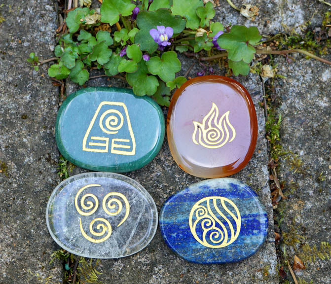 Four Elements Mayan Stones