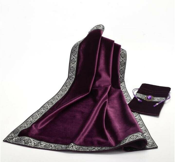 Purple Tarot Bag with table cloth