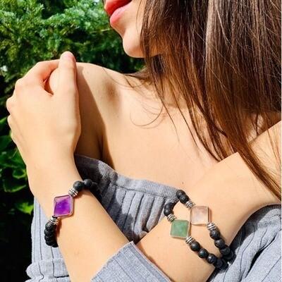 Lava and Pyramids Bracelets