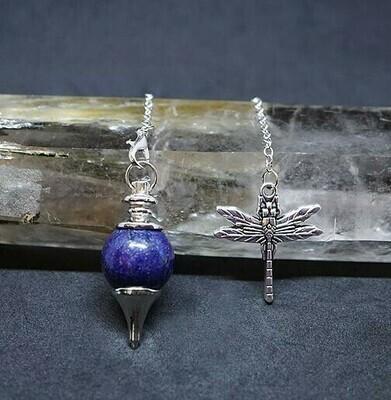 Dragonfly in Lapis Pendulum