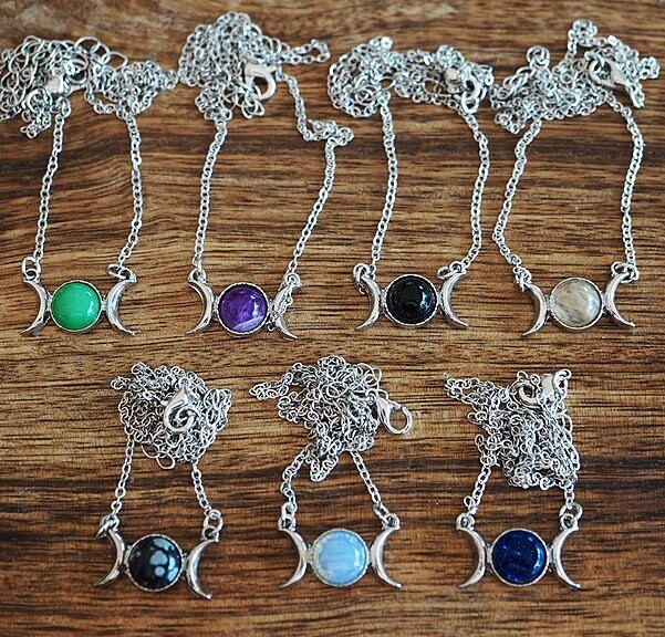Triple Moon Pendants