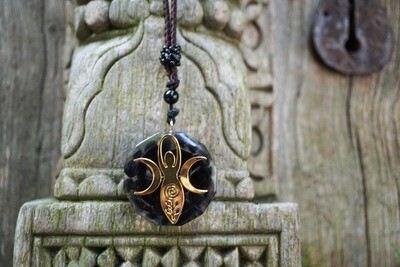 Orgone Gaia Pendant in Black Tourmaline