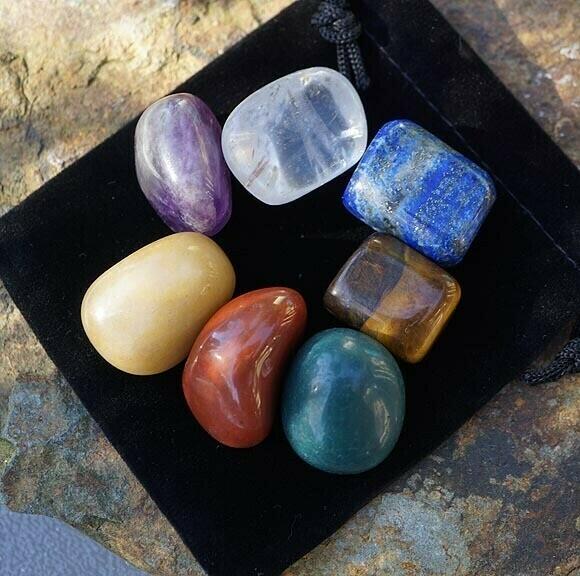 Tumbled chakra stones
