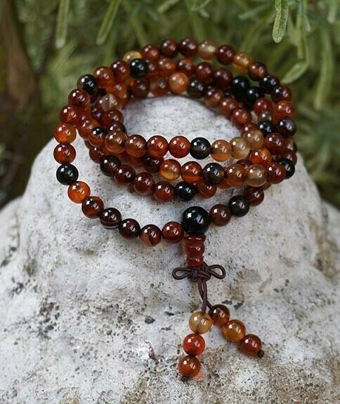 Multi Carnelian 108 Prayer Beads