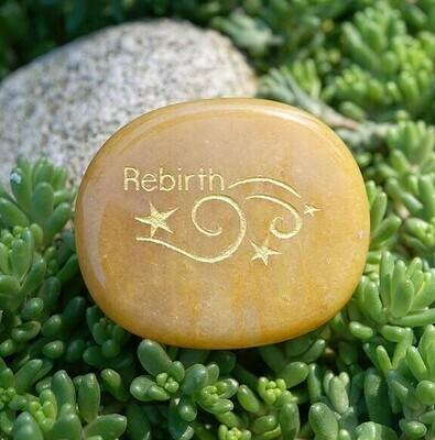 Rebirth Palm Stone in Yellow Jade
