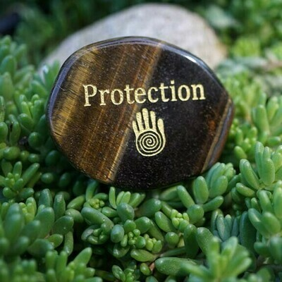 Protection Palm Stone in Tiger Eye
