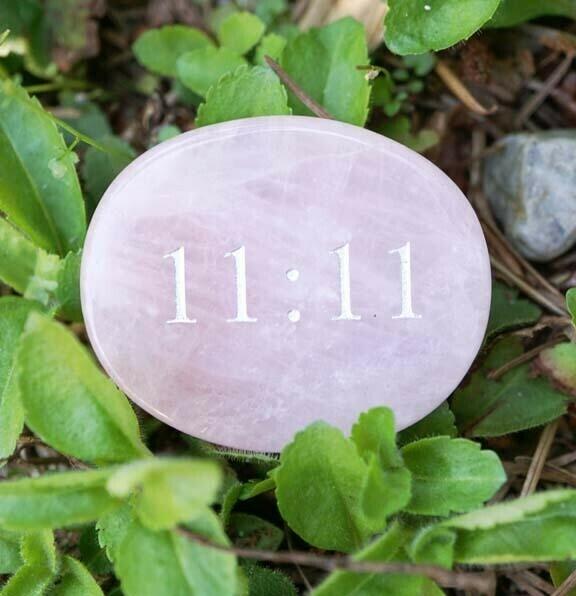 11:11 Palm Stones in Rose Quartz