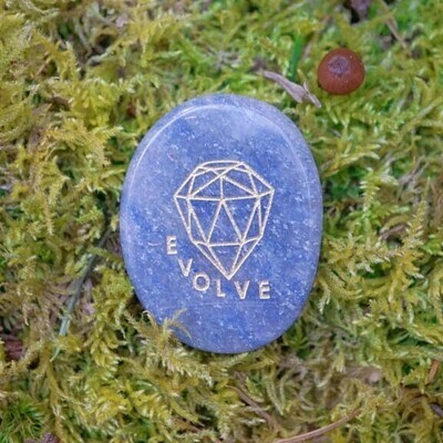 Evolve Palm Stone in Blue Aventurine